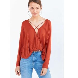 Urban Outfitters Mayfair Plunge Criss Cross Top